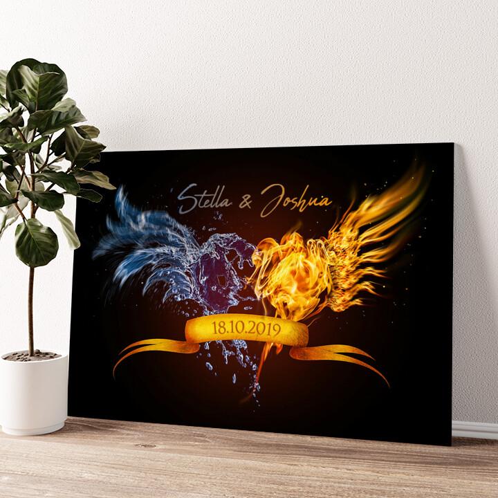 Elements of Love Wandbild personalisiert