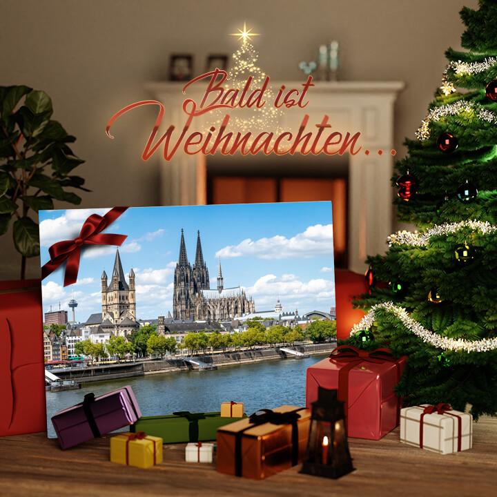 Liebesleinwand zu Weichnachten Kölner Dom