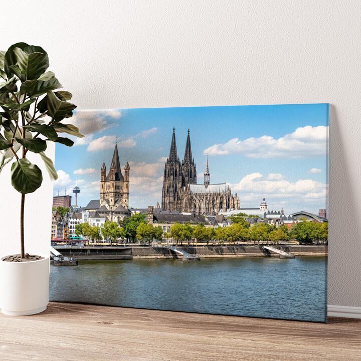 Kölner Dom Wandbild personalisiert