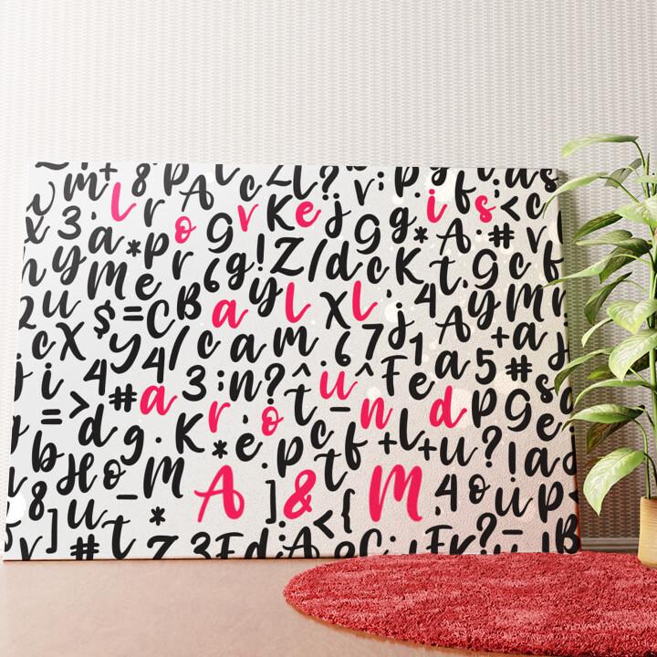 Personalisiertes Wandbild Love Is All Around