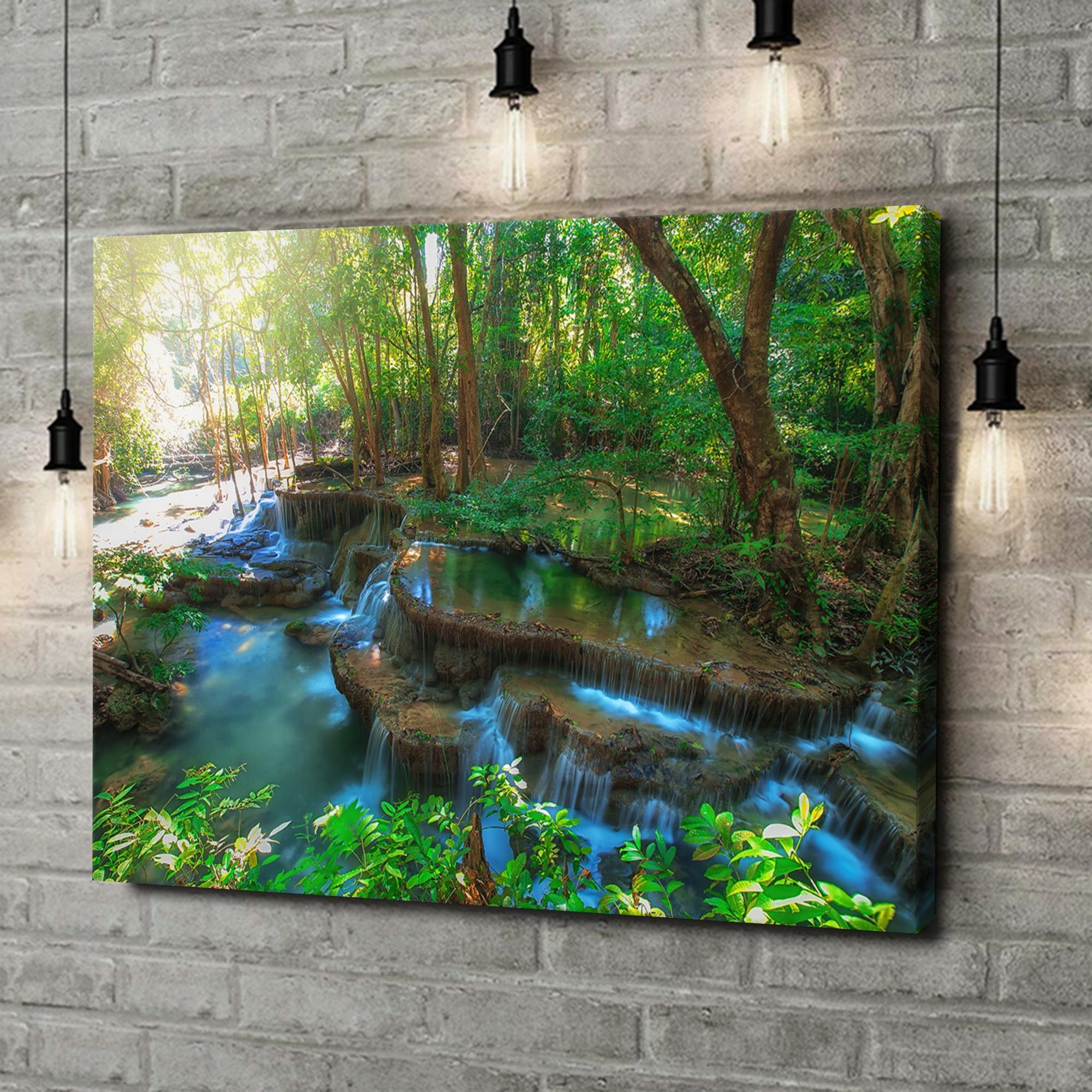 Leinwandbild personalisiert Huay Mae Khamin Wasserfall