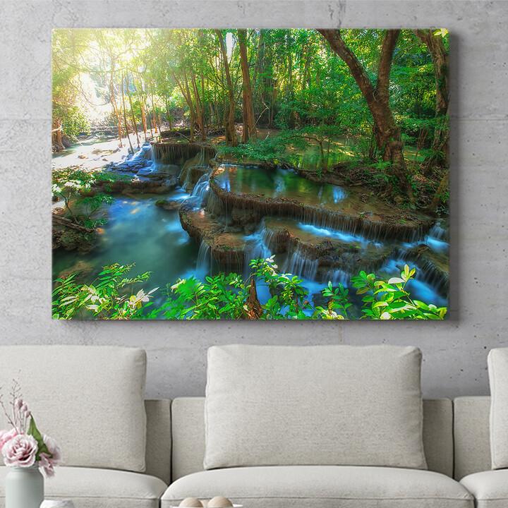 Personalisierbares Geschenk Huay Mae Khamin Wasserfall