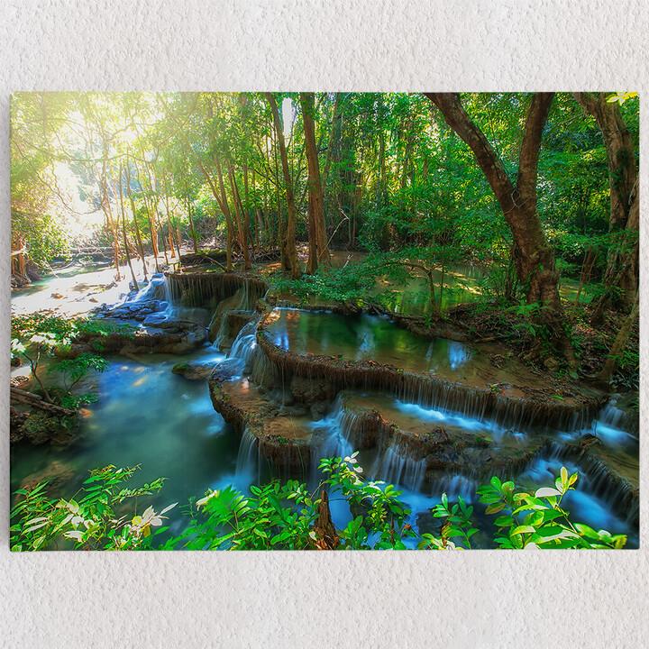 Personalisiertes Leinwandbild Huay Mae Khamin Wasserfall