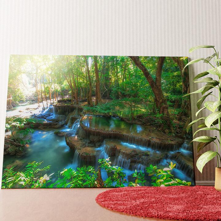 Personalisiertes Wandbild Huay Mae Khamin Wasserfall