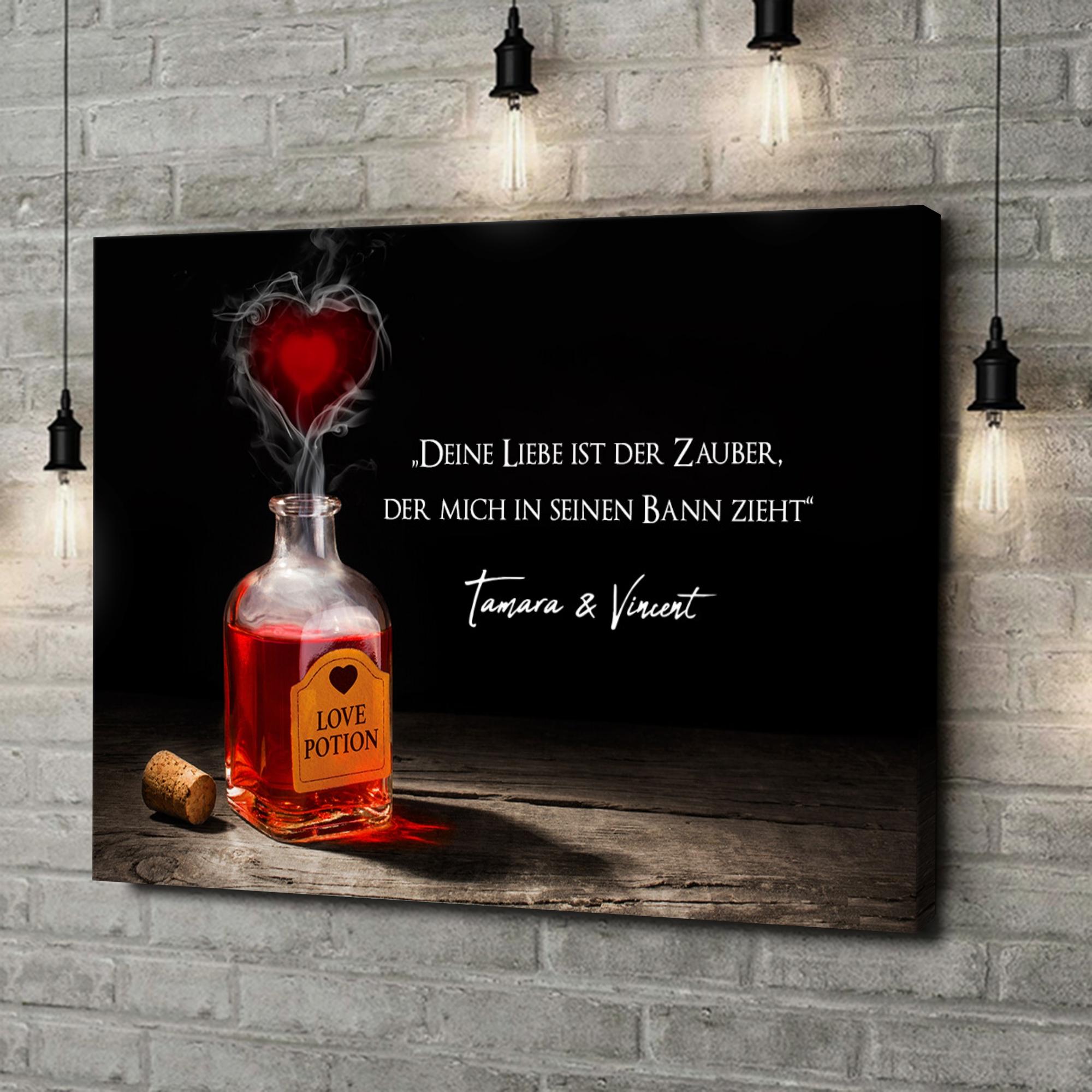 Leinwandbild personalisiert Liebestrank