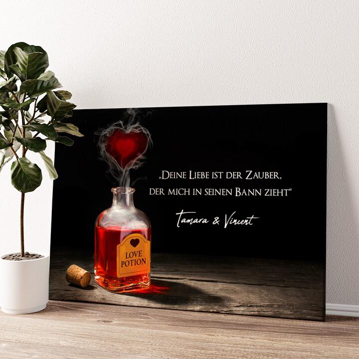 Liebestrank Wandbild personalisiert