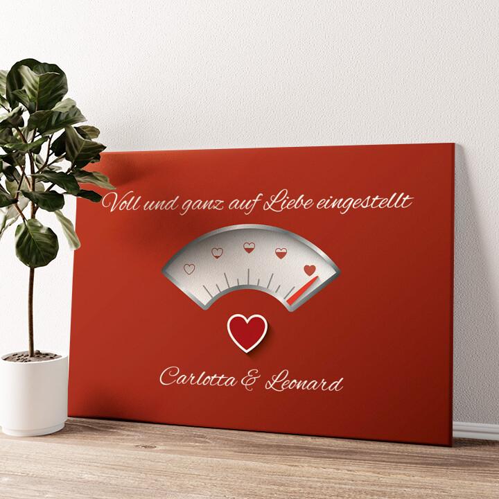 100% Liebe Wandbild personalisiert