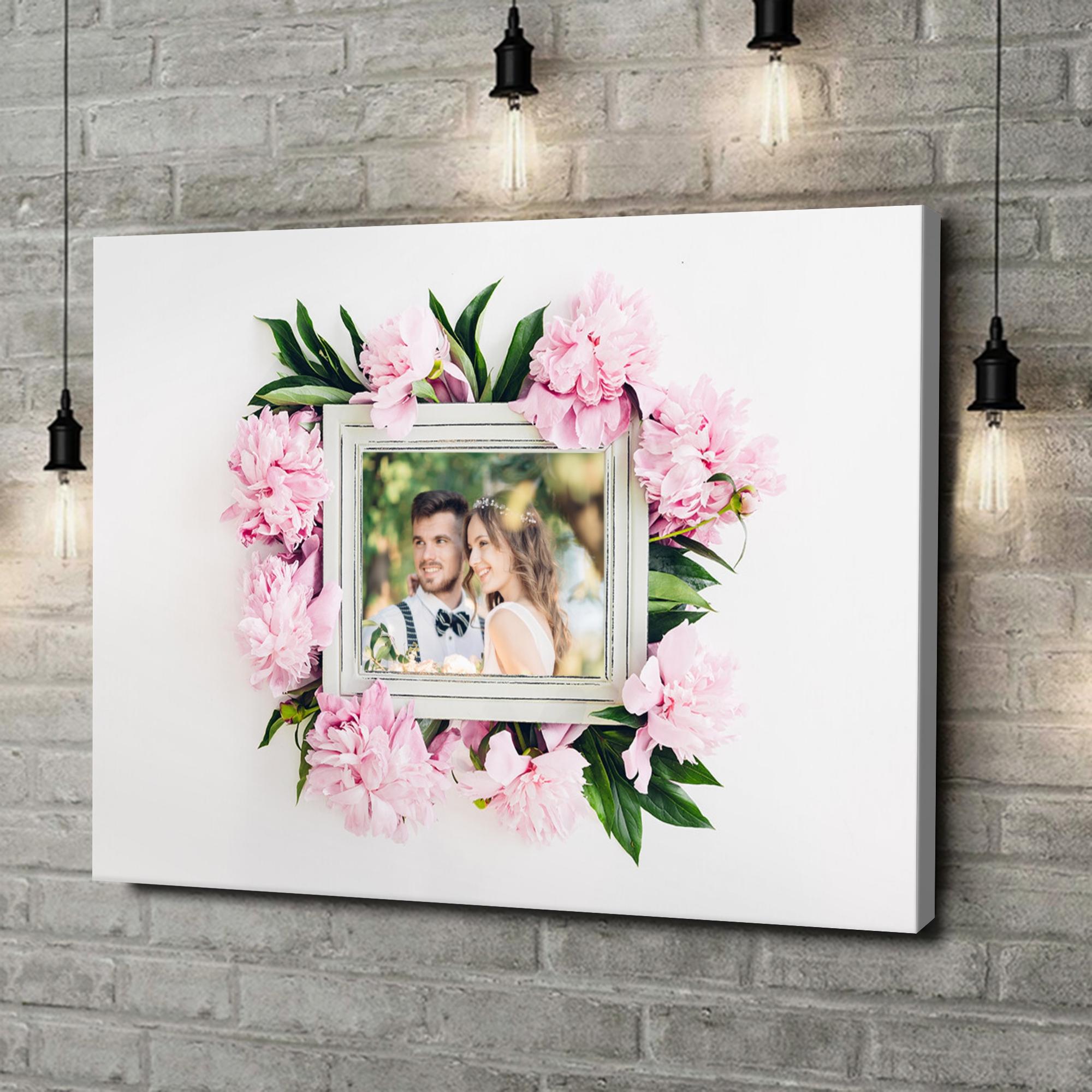 Leinwandbild personalisiert Hintergrund: Blumenschmuck
