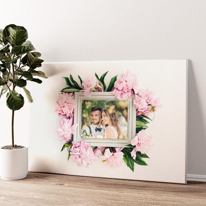Hintergrund: Blumenschmuck Wandbild personalisiert