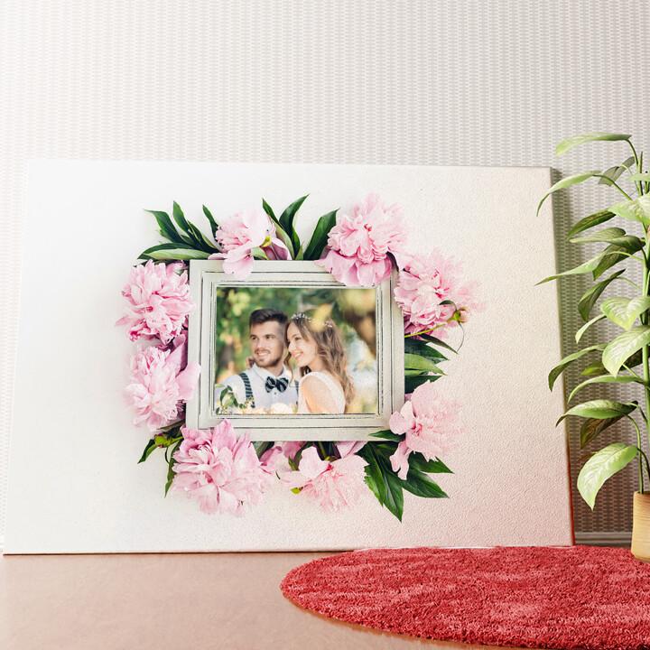 Personalisiertes Wandbild Hintergrund: Blumenschmuck