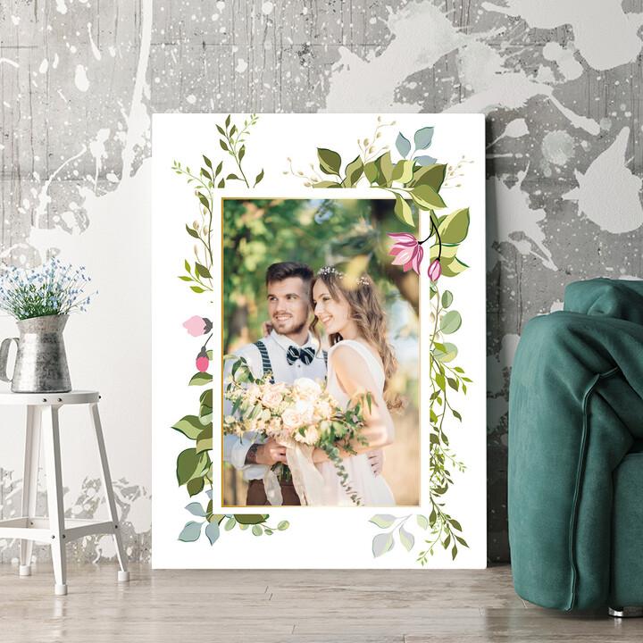 Personalisierbares Geschenk Hintergrund: Blumenranke