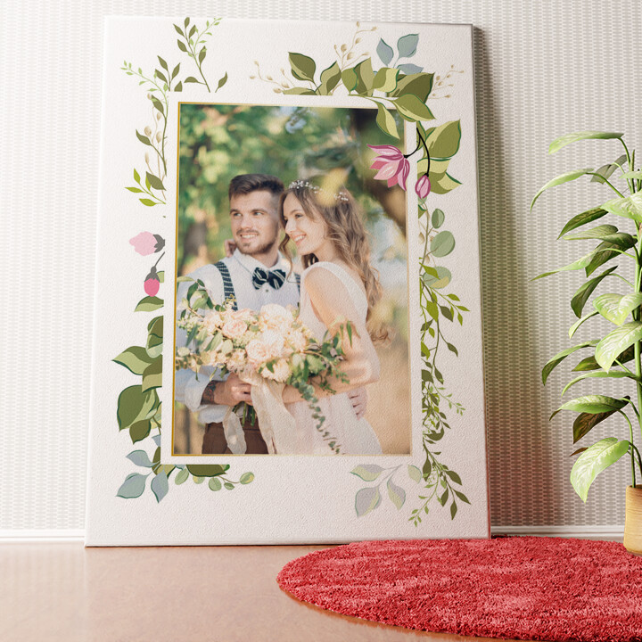 Personalisiertes Wandbild Hintergrund: Blumenranke
