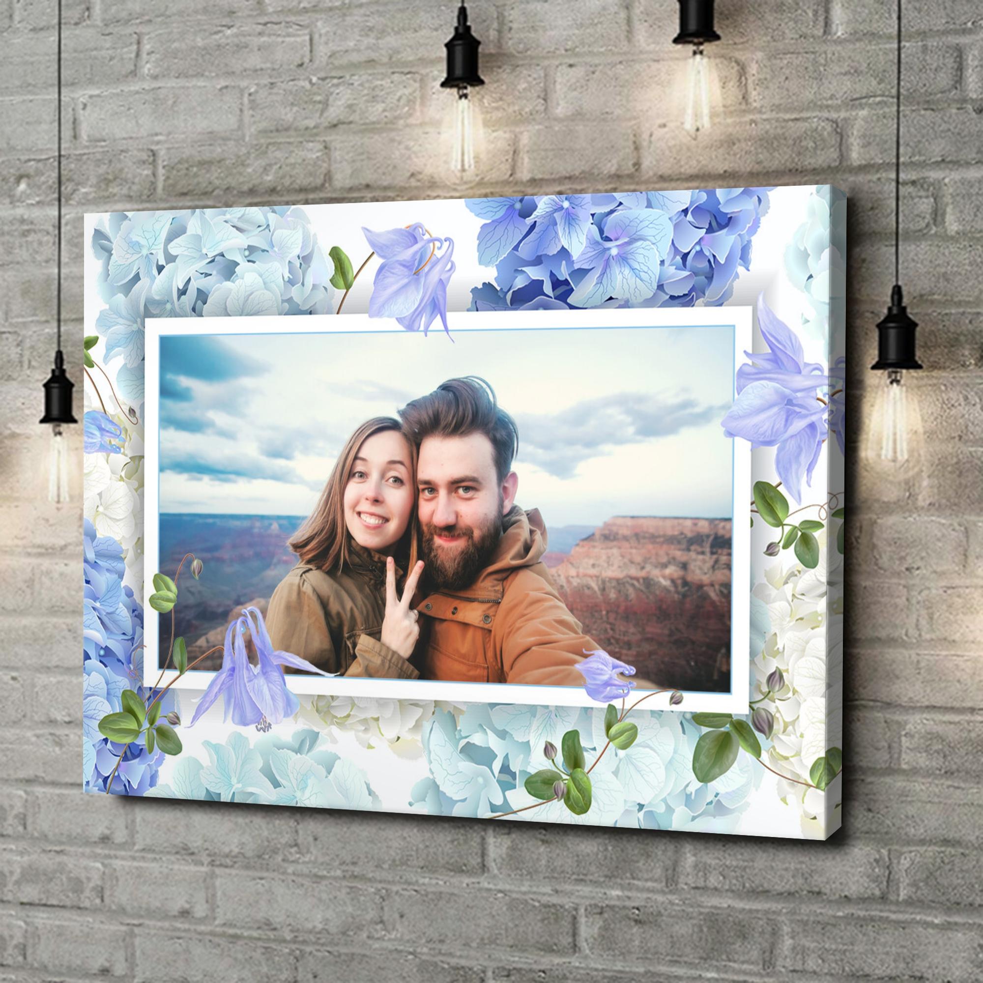 Leinwandbild personalisiert Hintergrund: Blütentraum