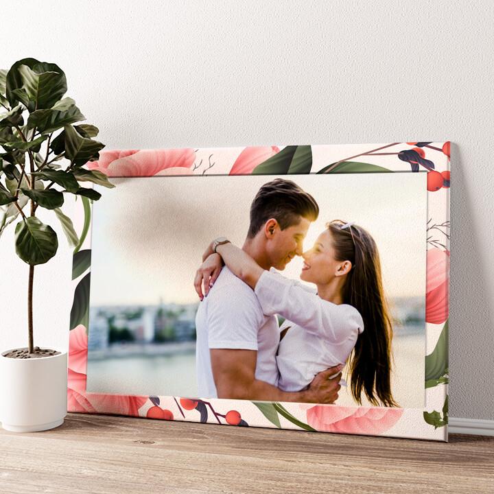 Hintergrund: Flora Wandbild personalisiert