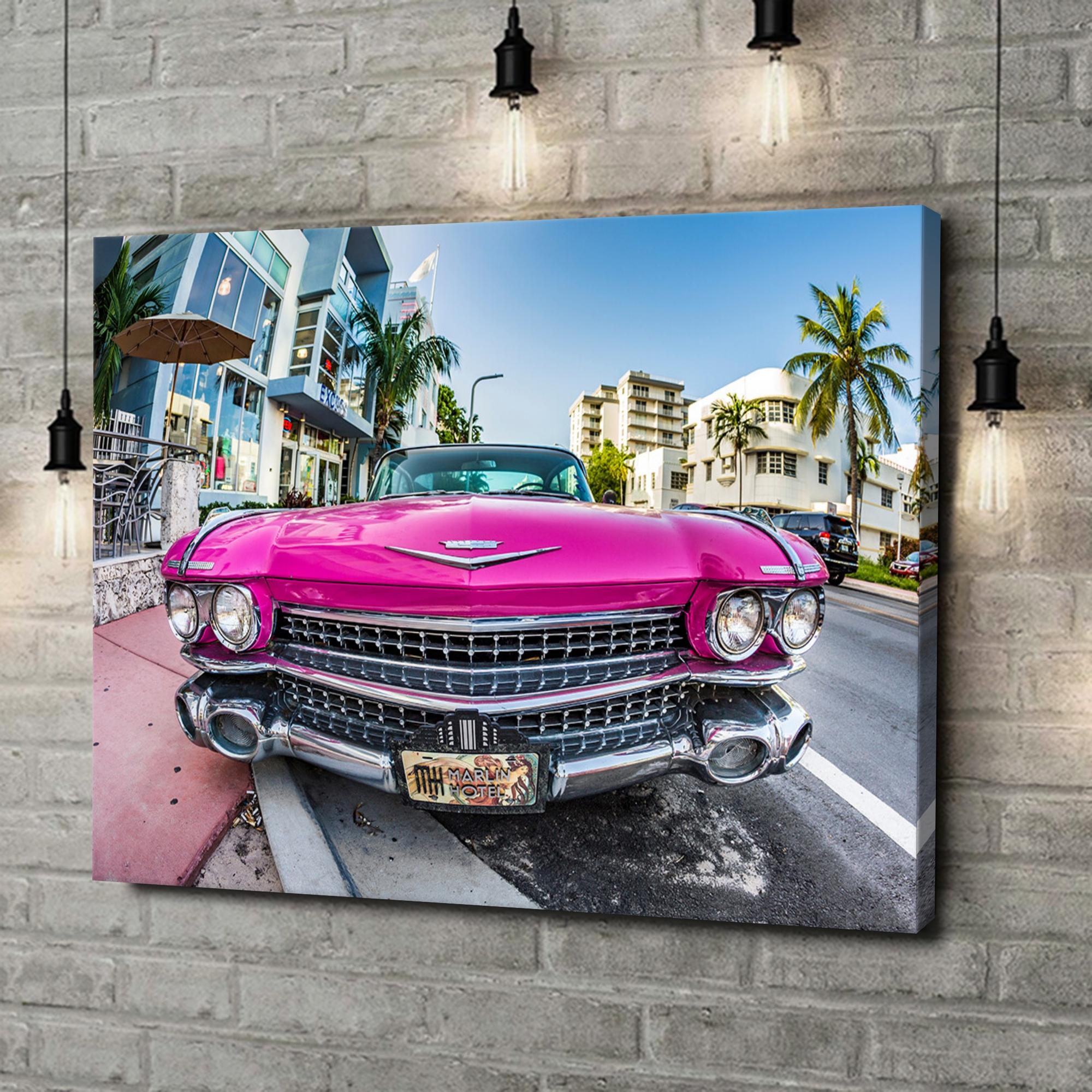 Leinwandbild personalisiert Cadillac Oldtimer