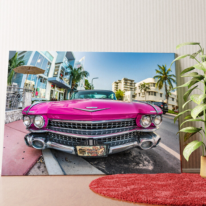 Personalisiertes Wandbild Cadillac Oldtimer
