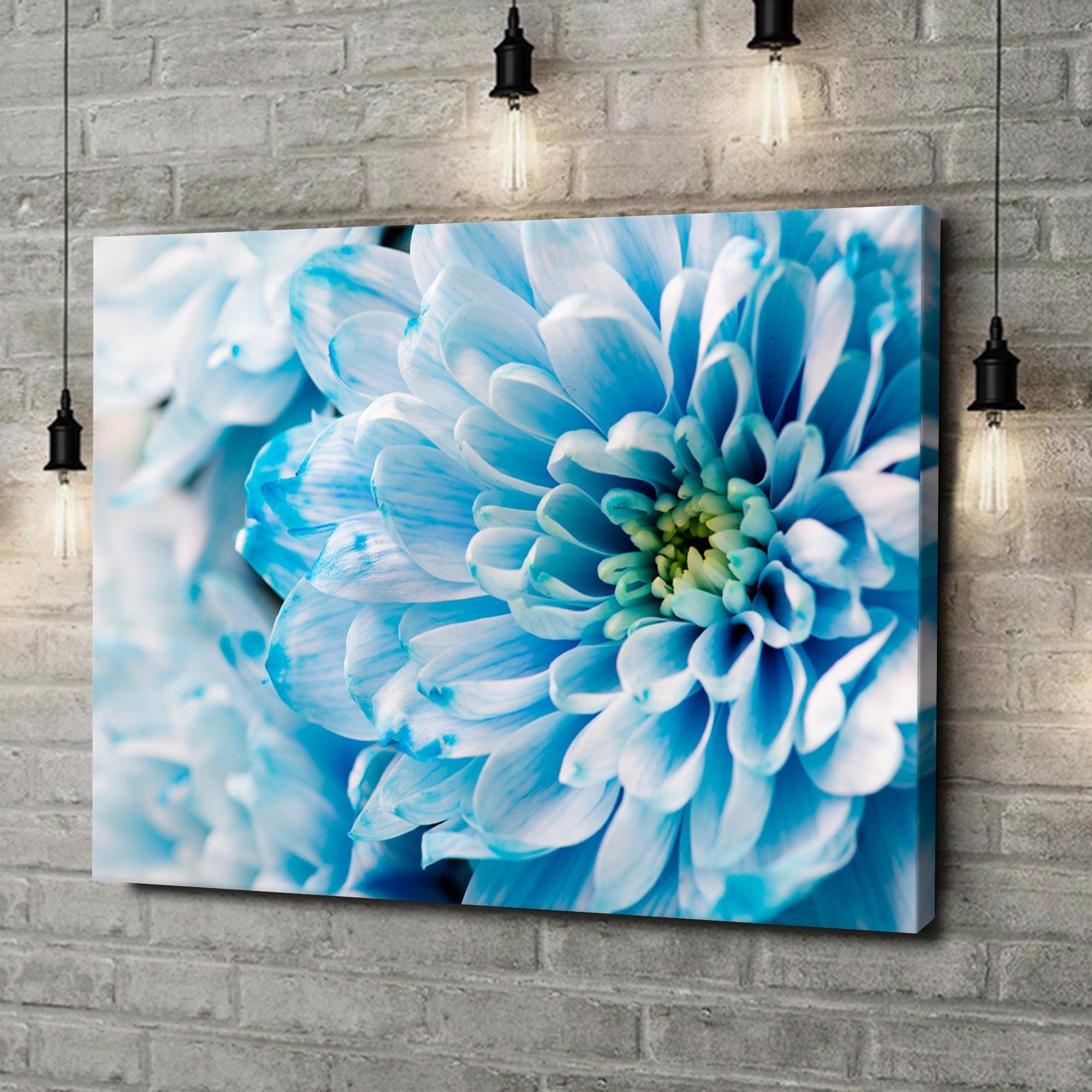 Leinwandbild personalisiert Blaue Chrysantheme
