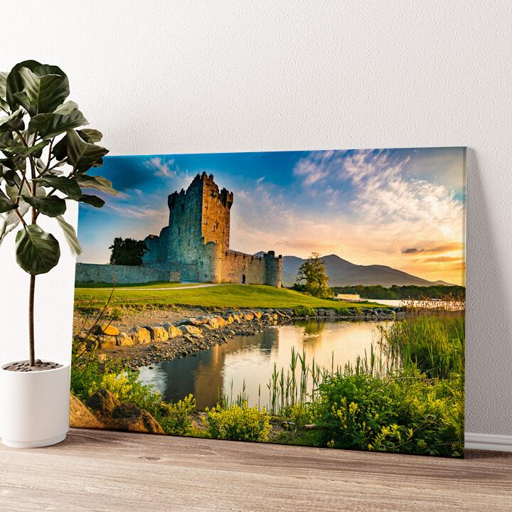 Ross Castle Irland Wandbild personalisiert