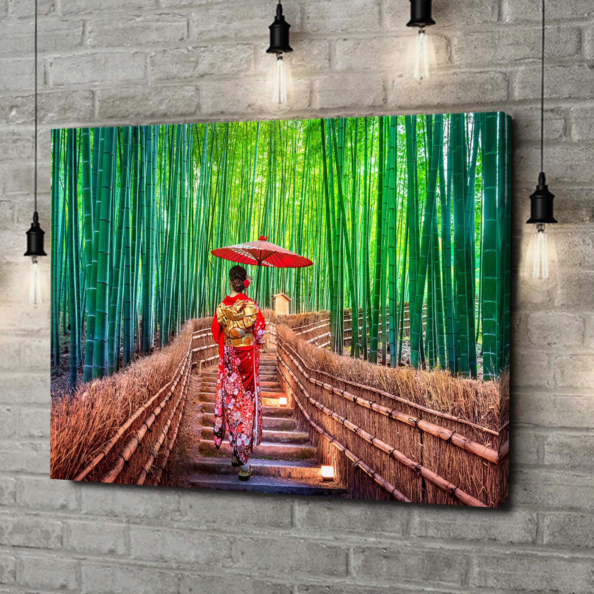 Leinwandbild personalisiert Bambuswald