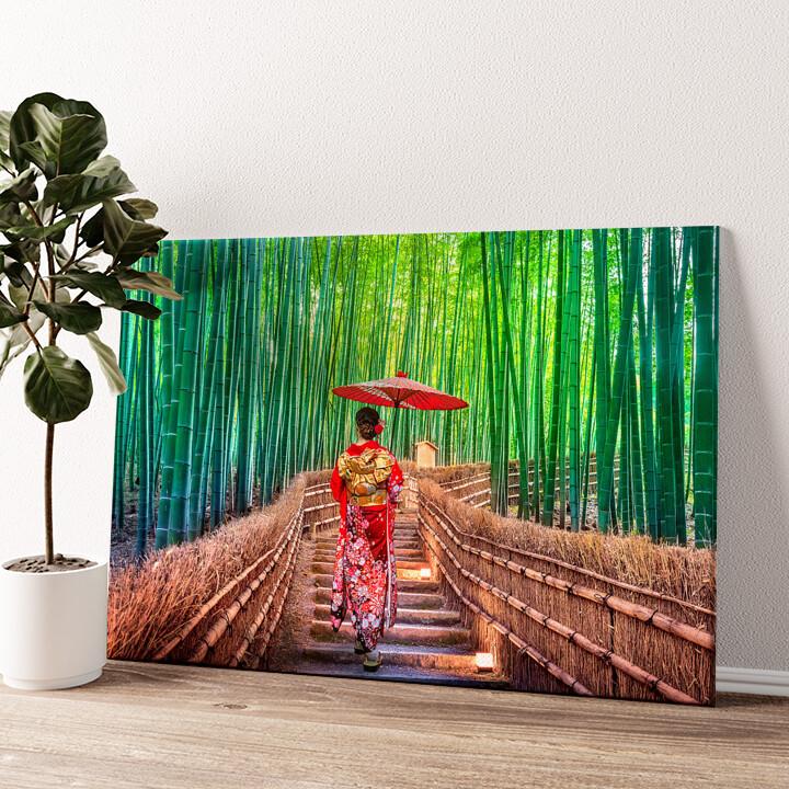 Bambuswald Wandbild personalisiert