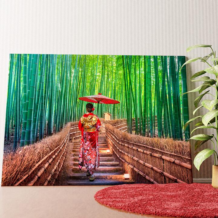 Personalisiertes Wandbild Bambuswald