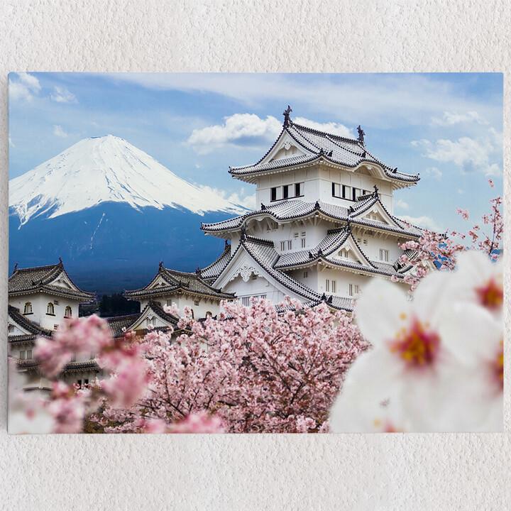 Personalisiertes Leinwandbild Burg Himeji Japan
