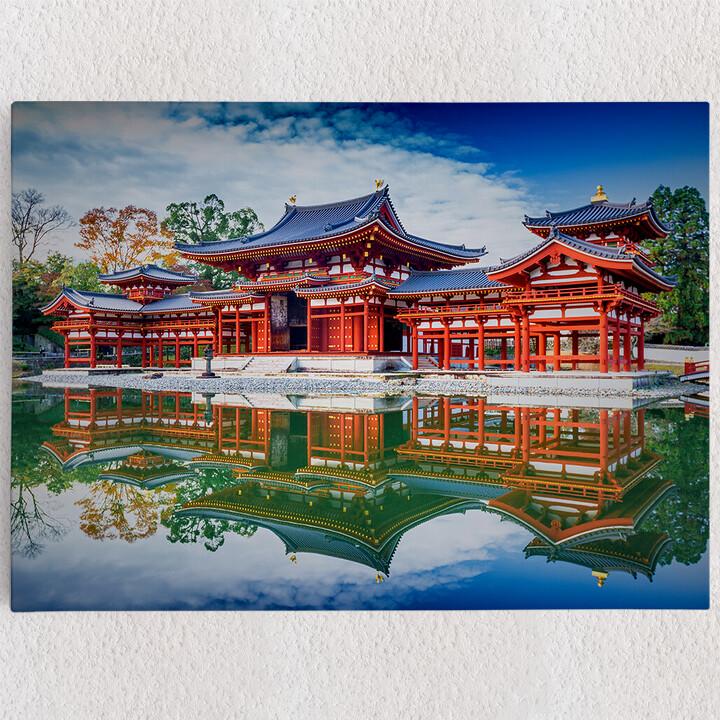Personalisiertes Leinwandbild Tempel Uji Kyoto Japan
