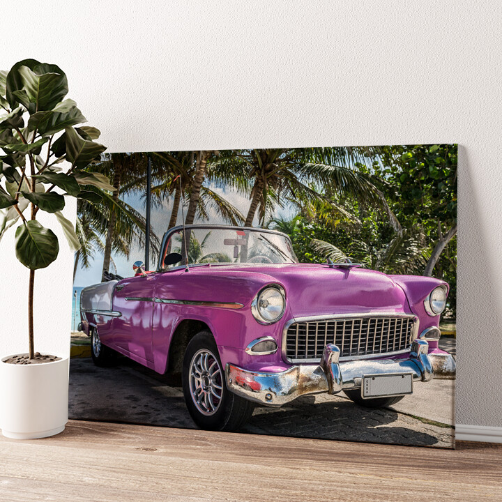 Chevrolet Oldtimer Wandbild personalisiert