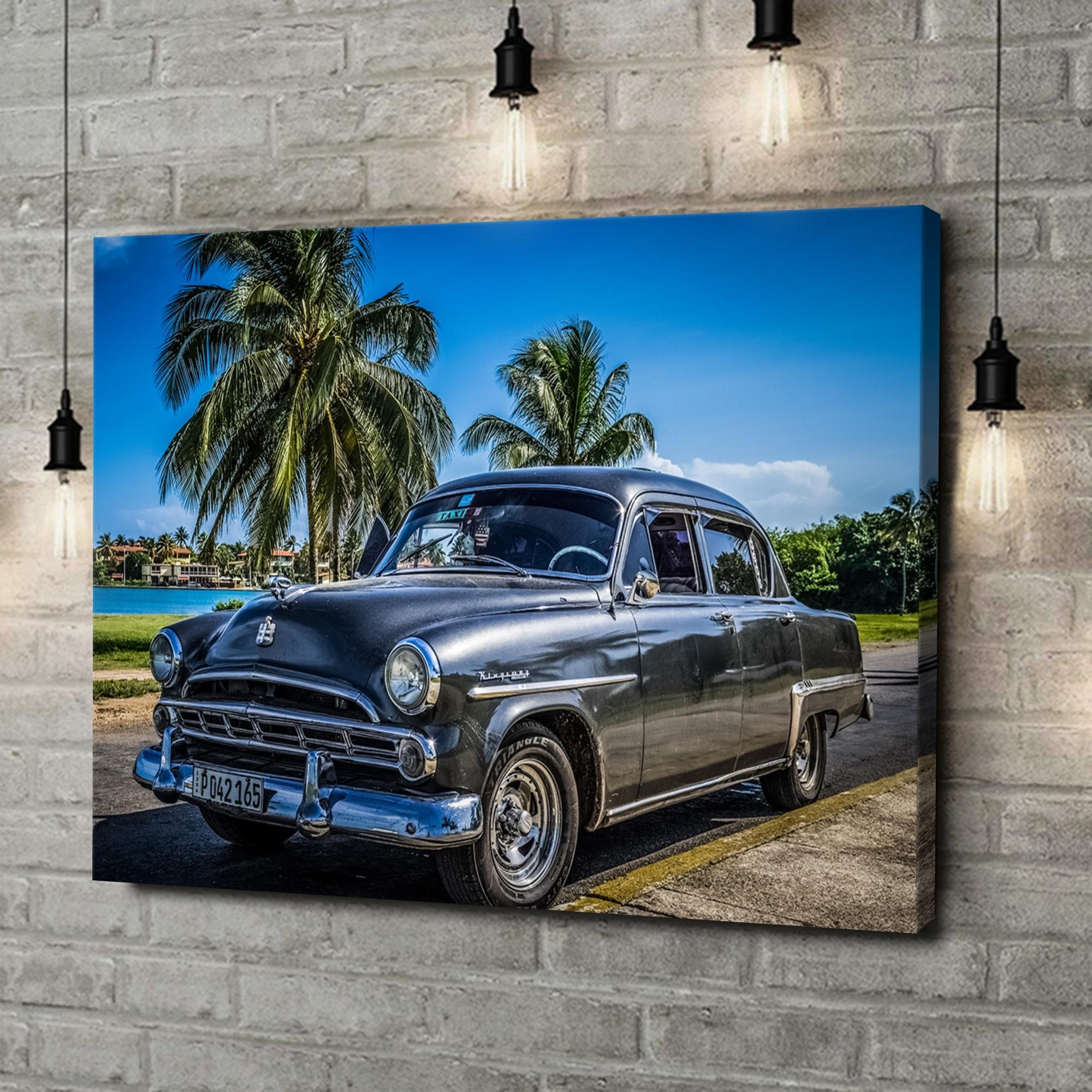 Leinwandbild personalisiert Dodge Oldtimer
