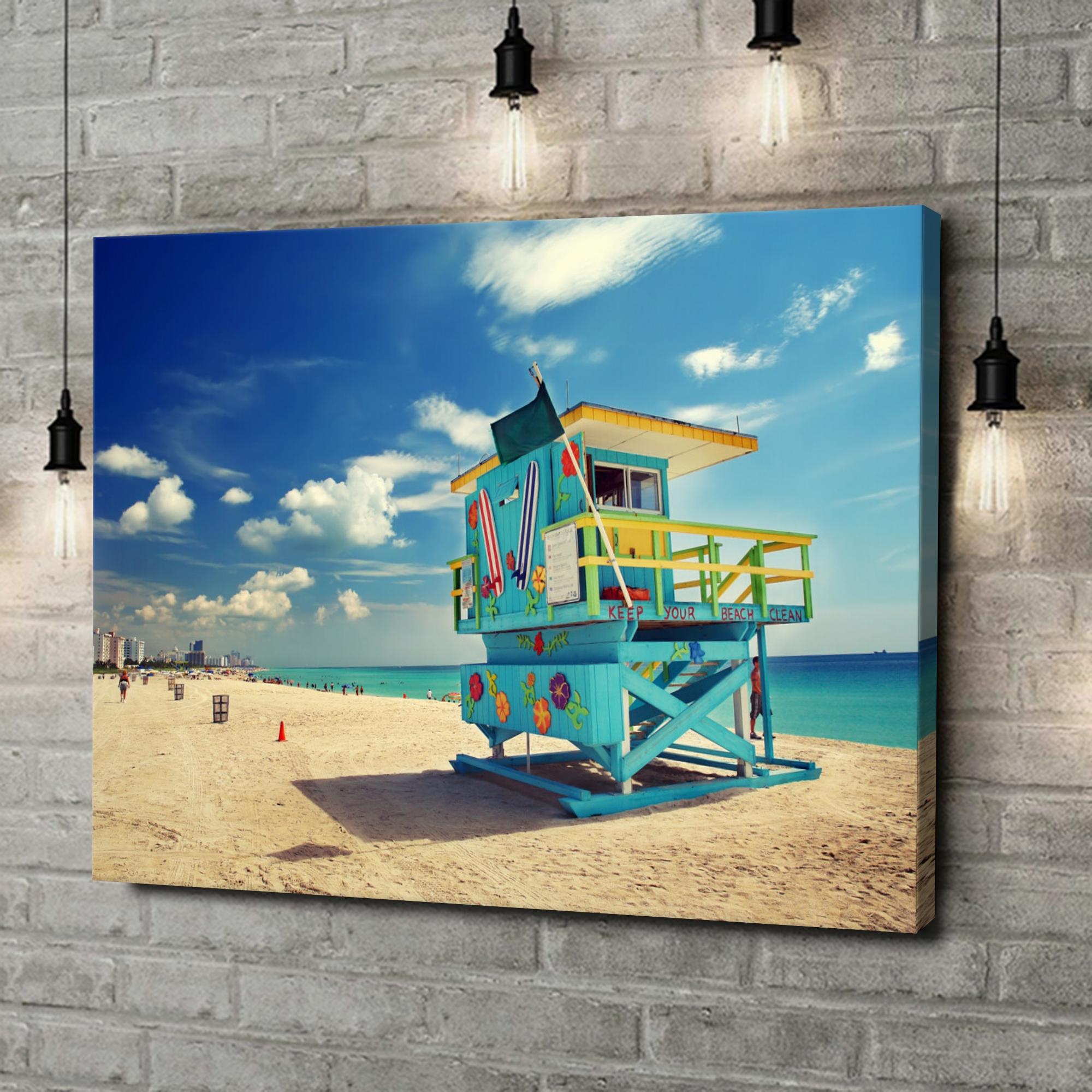 Leinwandbild personalisiert Strand von Miami
