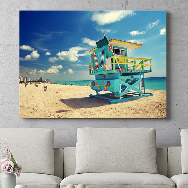 Personalisierbares Geschenk Strand von Miami