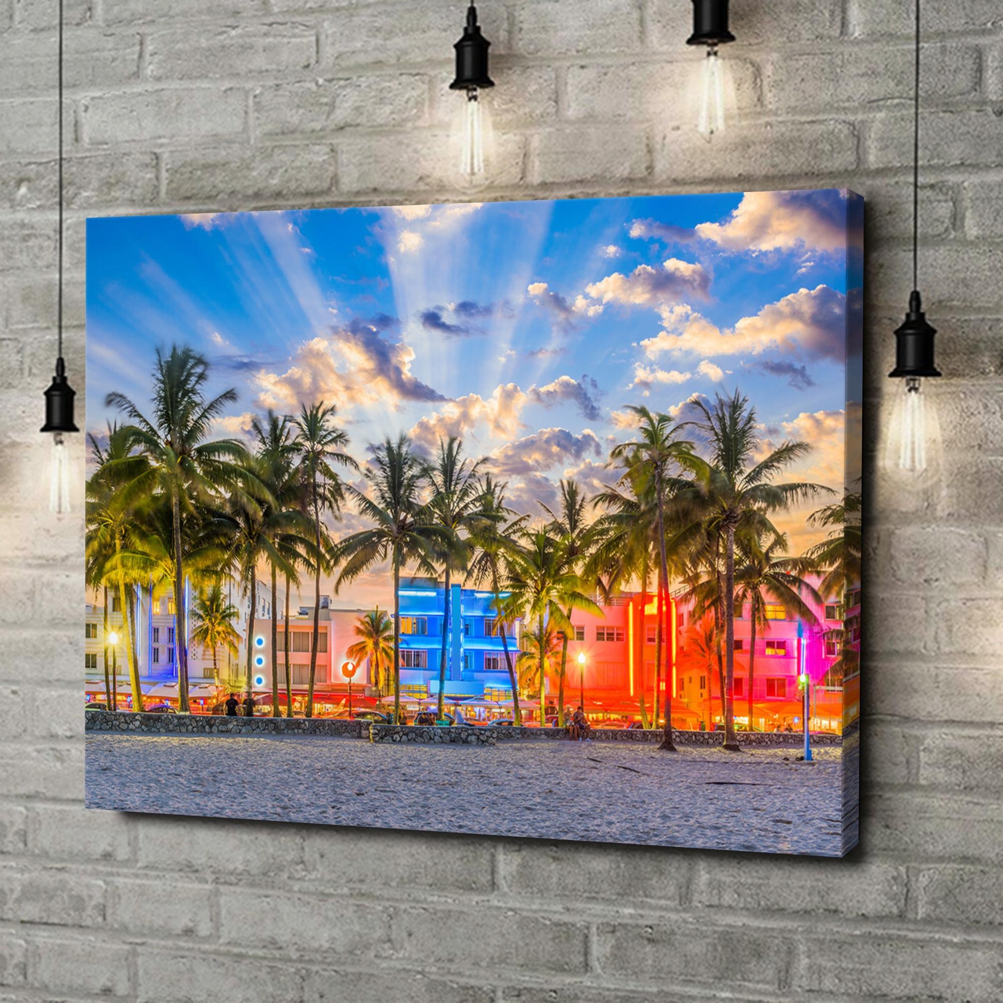Leinwandbild personalisiert Küste von Miami