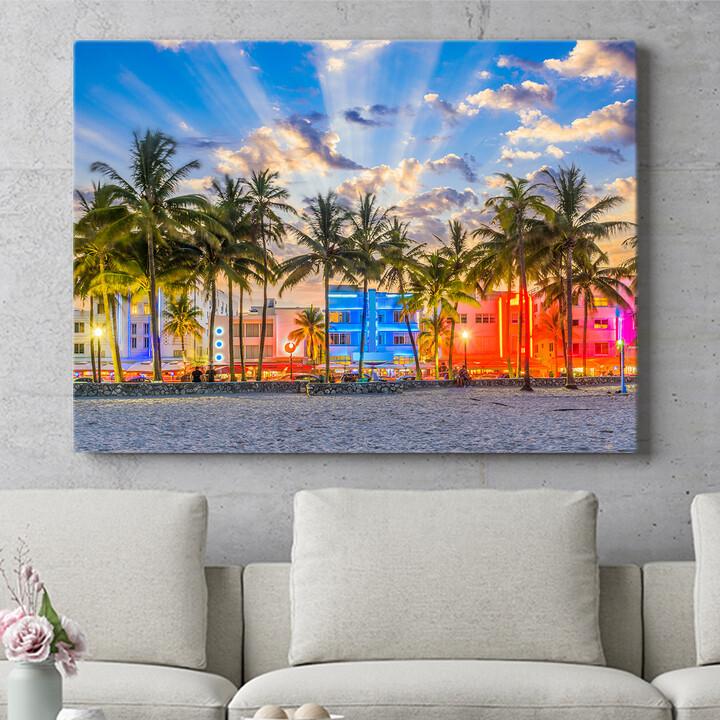 Personalisierbares Geschenk Küste von Miami