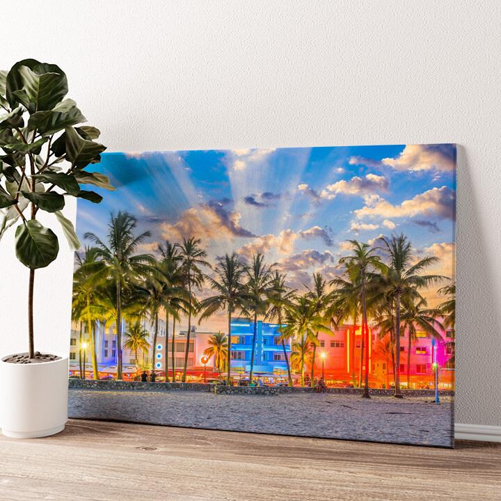 Küste von Miami Wandbild personalisiert