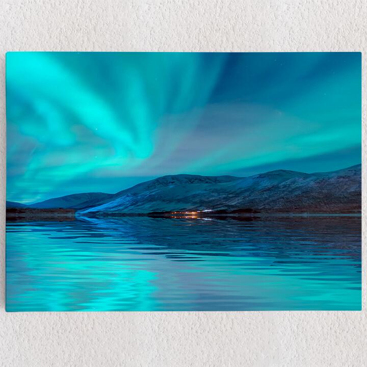 Personalisiertes Leinwandbild Nordlichter