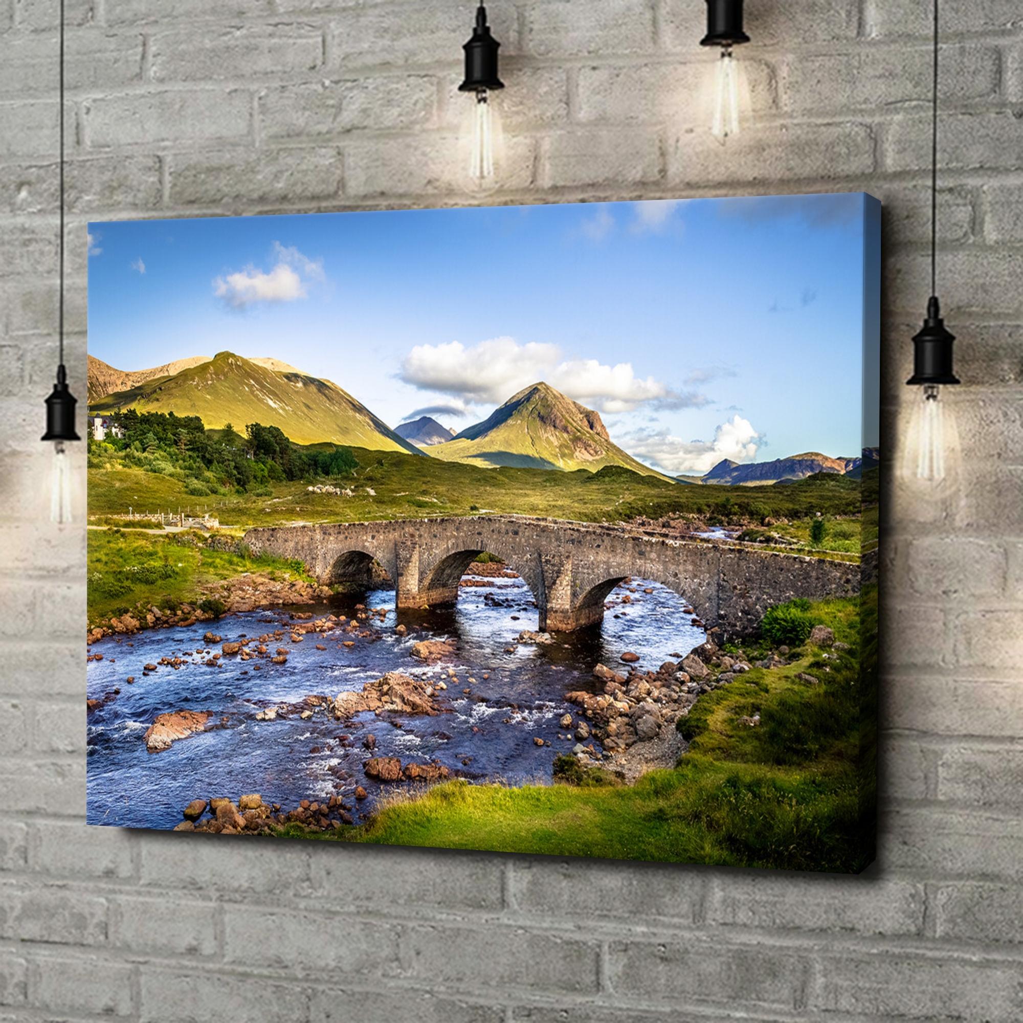 Leinwandbild personalisiert Natursteinbrücke in Schottland