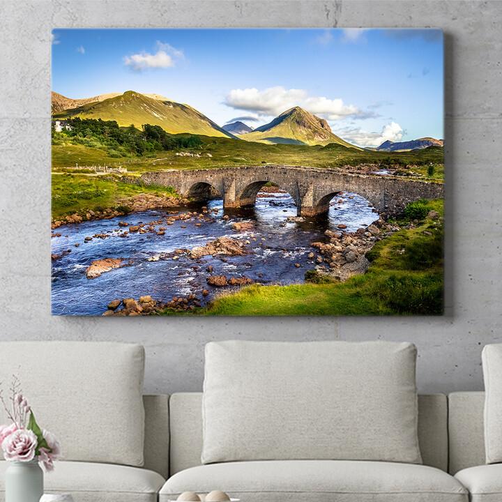 Personalisierbares Geschenk Natursteinbrücke in Schottland