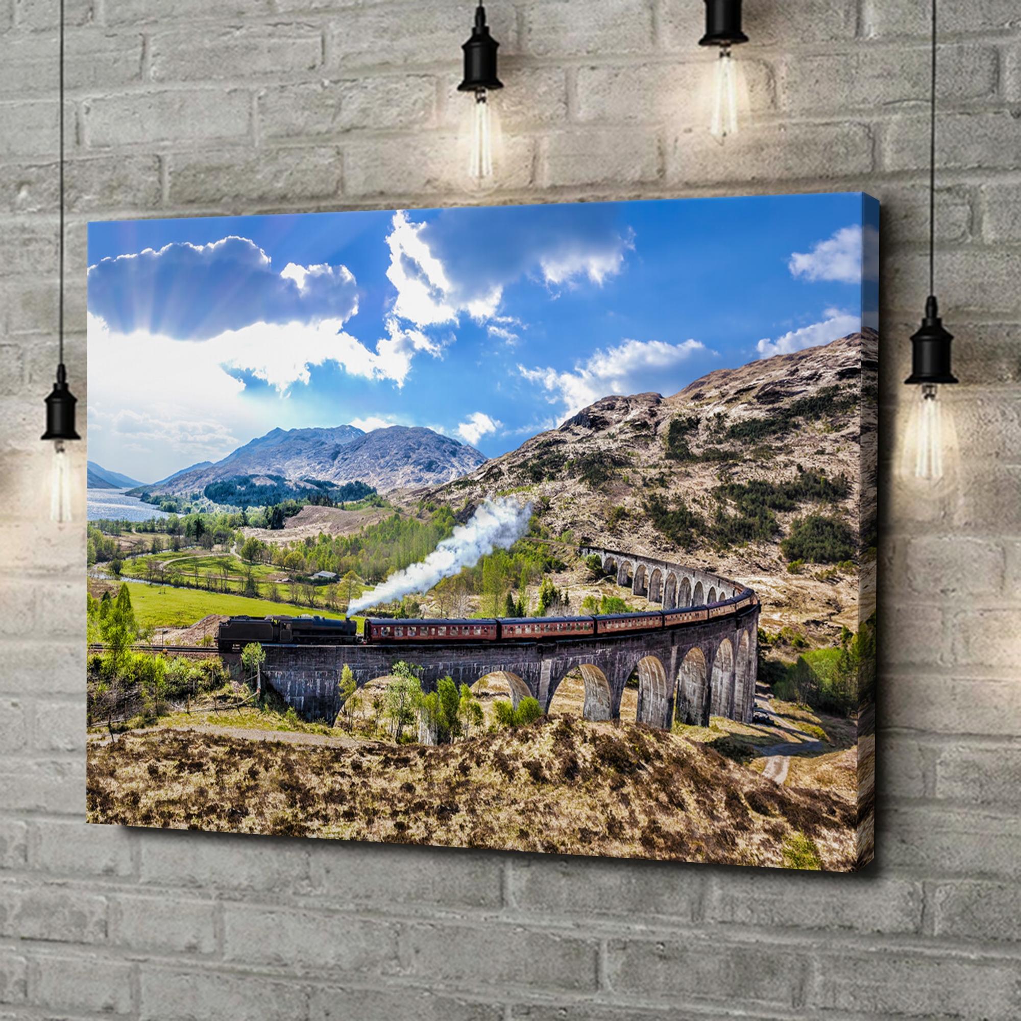 Leinwandbild personalisiert Glenfinnan Viadukt Schottland