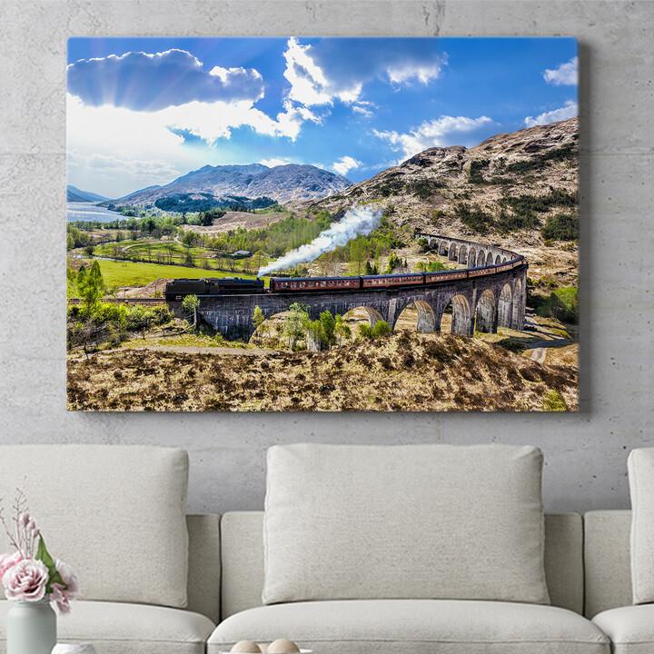 Personalisierbares Geschenk Glenfinnan Viadukt Schottland