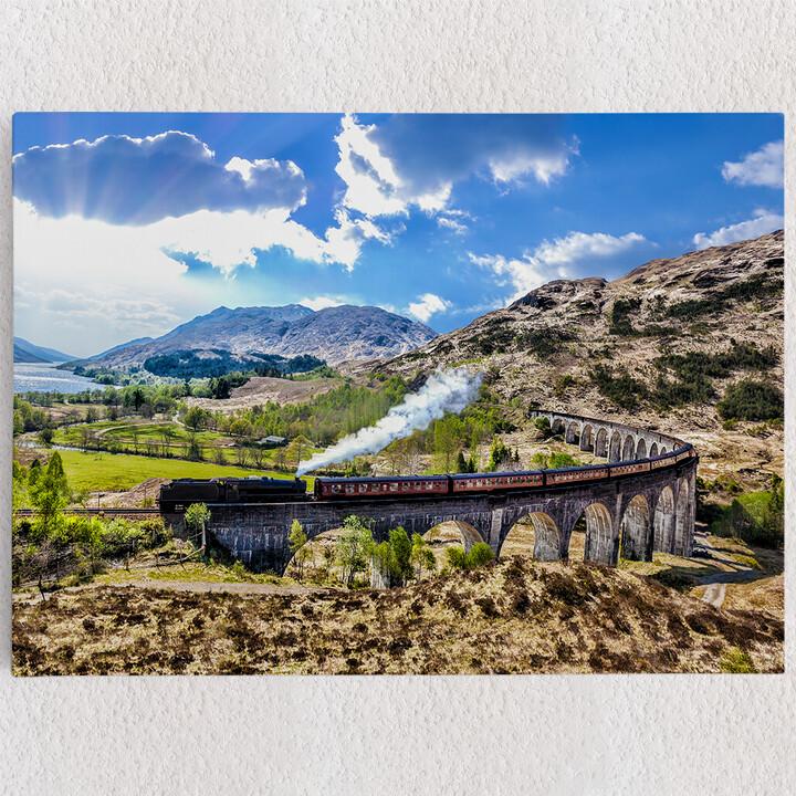 Personalisiertes Leinwandbild Glenfinnan Viadukt Schottland