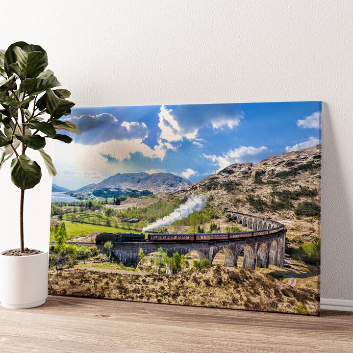 Glenfinnan Viadukt Schottland Wandbild personalisiert