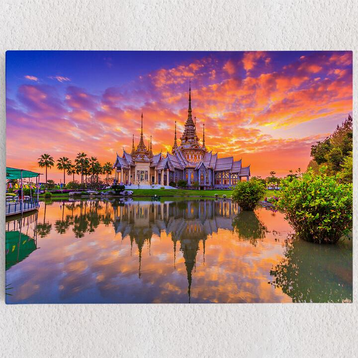 Personalisiertes Leinwandbild Wat Kheine Kum Tempel