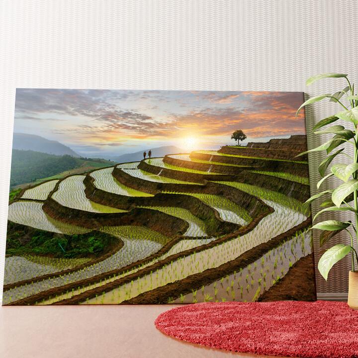 Personalisiertes Wandbild Reisfelder in Pa-Pong-Peang