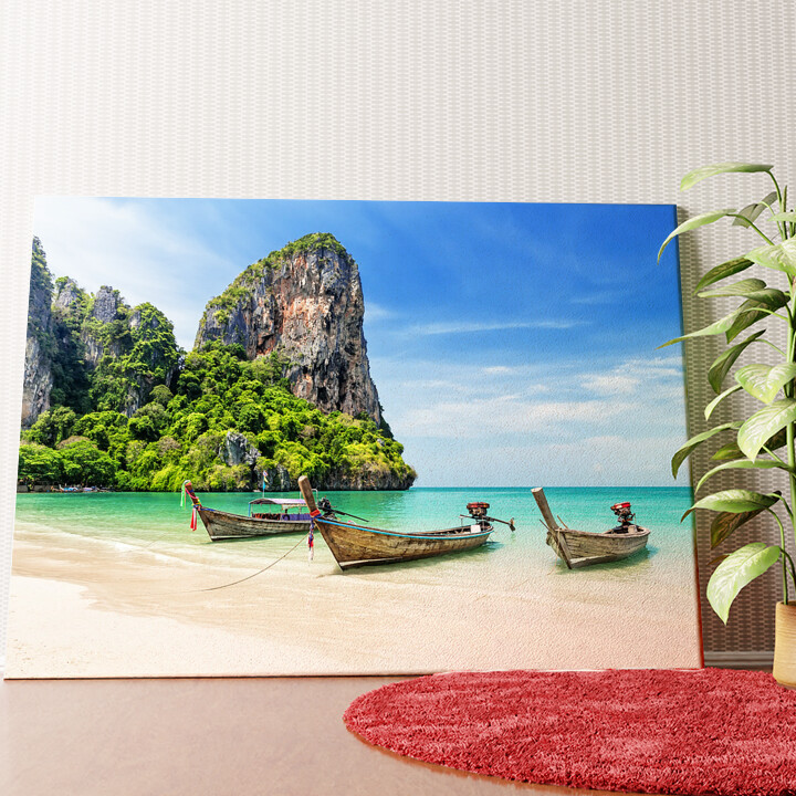 Personalisiertes Wandbild Railay Beach Thailand