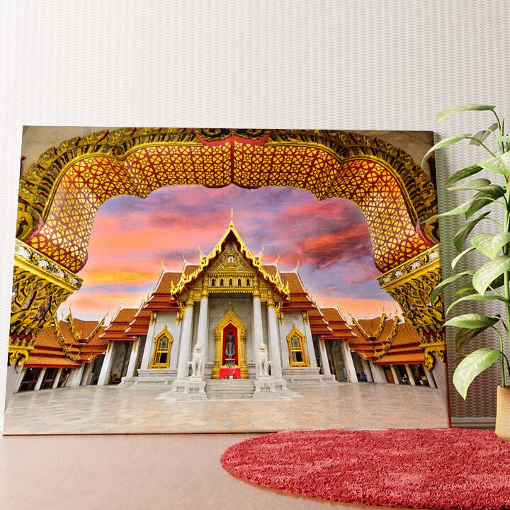Personalisiertes Wandbild Marmortempel Bangkok