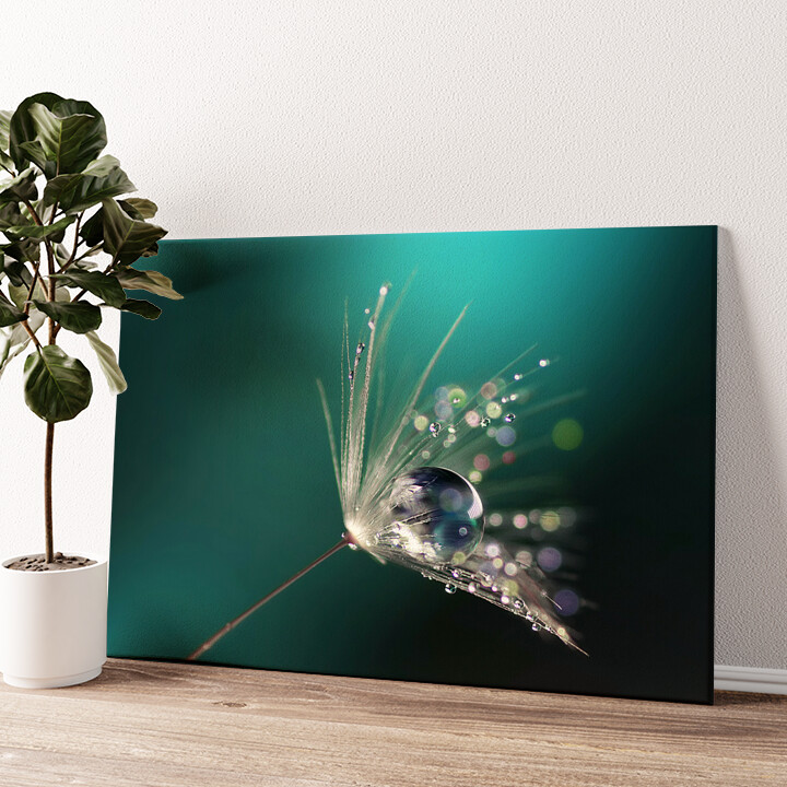 Wassertropfen Wandbild personalisiert