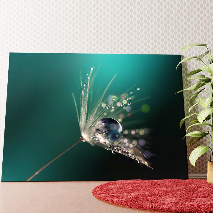Personalisiertes Wandbild Wassertropfen