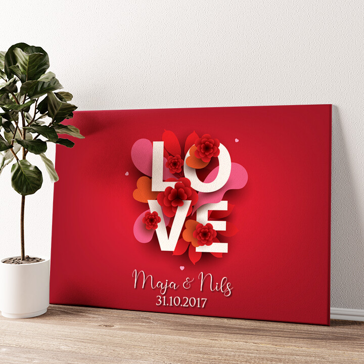 LOVE Wandbild personalisiert