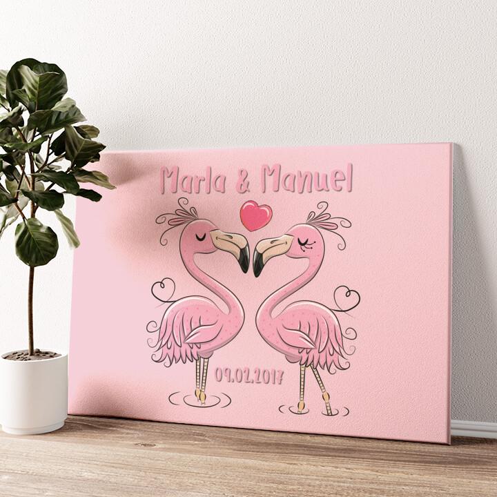 Flamingorama Wandbild personalisiert