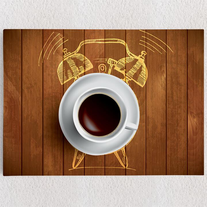 Personalisiertes Leinwandbild Kaffeewecker